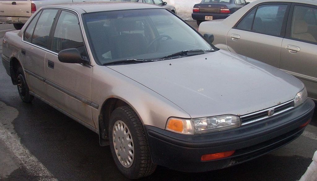 a 1992 Honda Accord in a parking lot