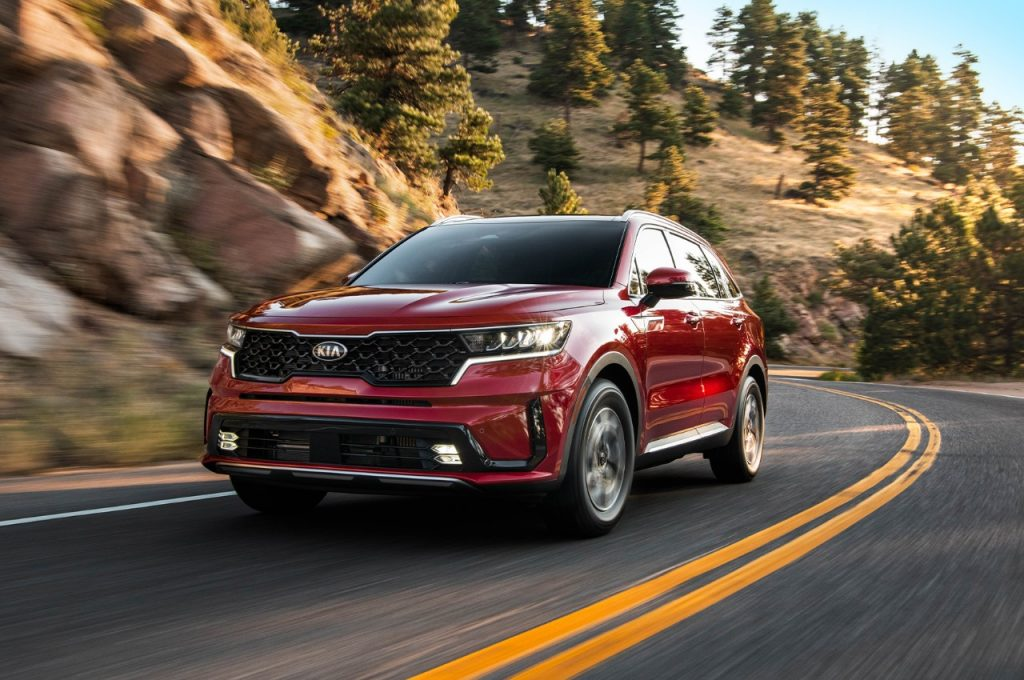2021 Kia Sorento driving on road