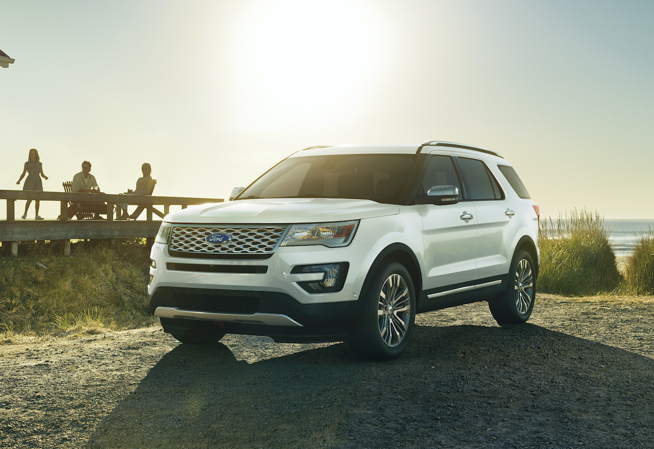 A photo of a 2017 Ford Explorer Outdoors.