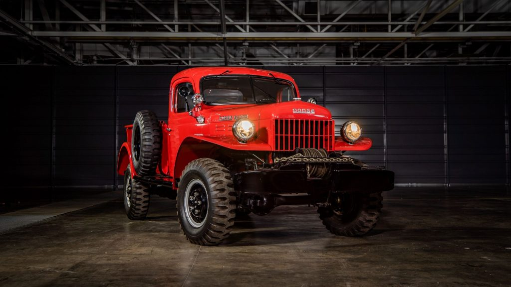 A red 1946 Dodge Power Wagon