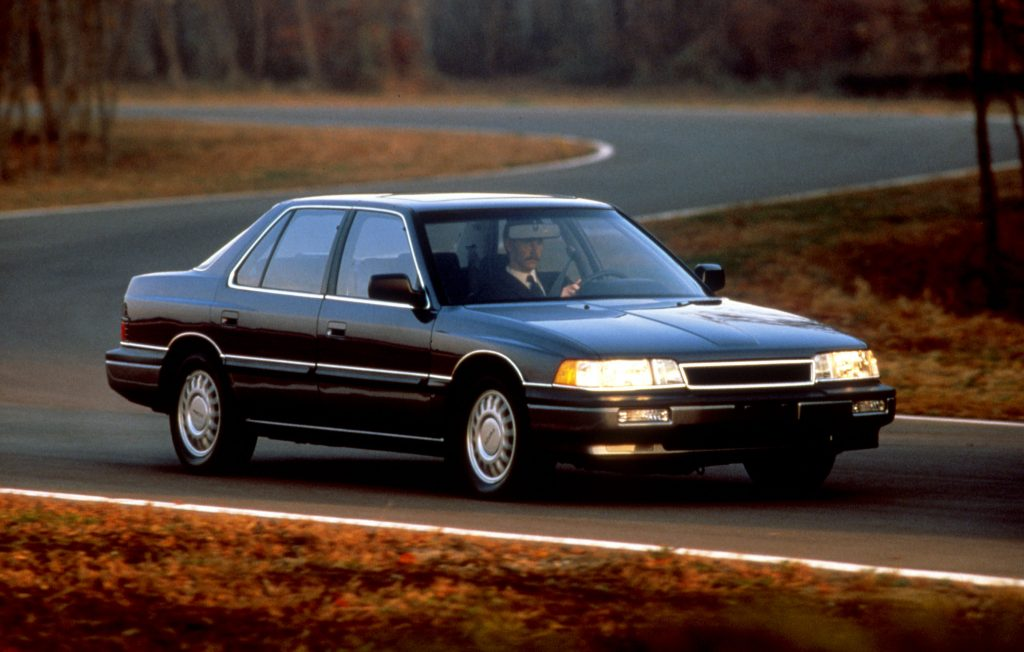 A black 1986 Acura Legend