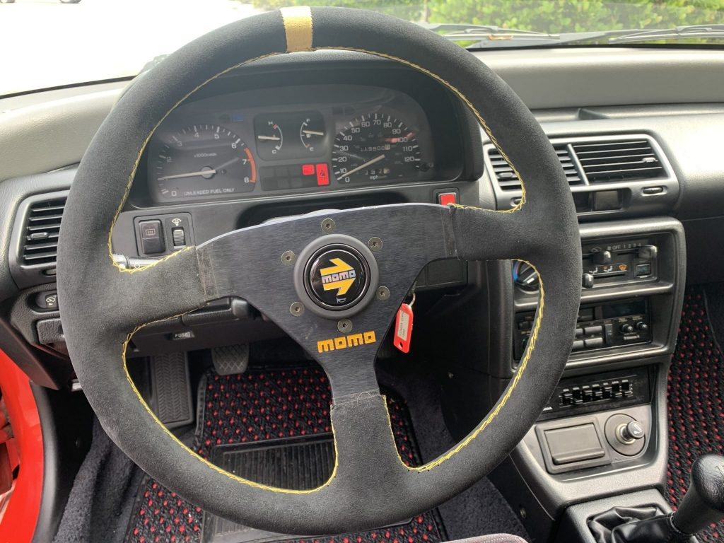 1991 Honda Civic with a Sparco steering wheel