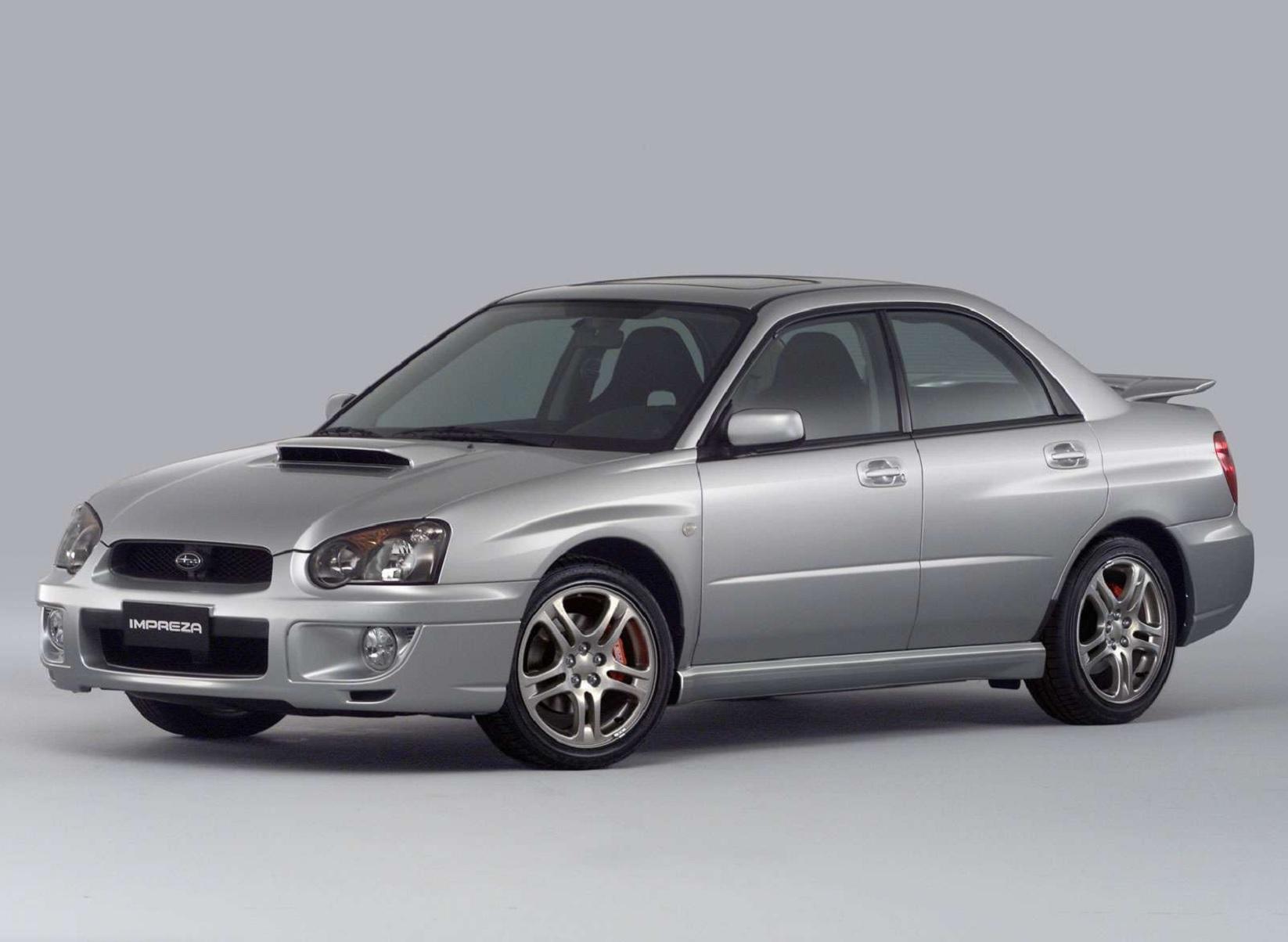 a silver 2004 Subaru Impreza WRX