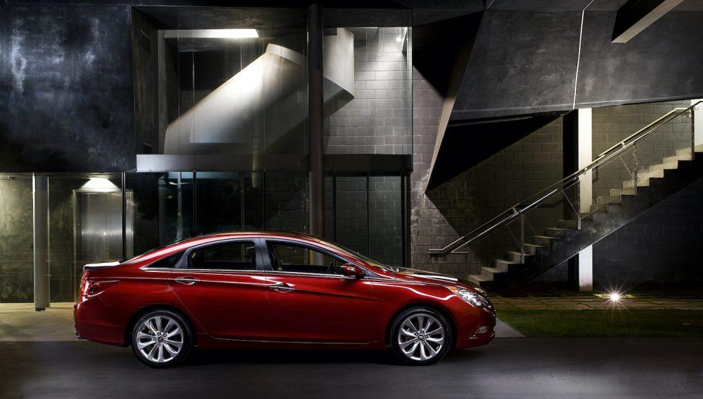 2011 Hyundai Sonata parked