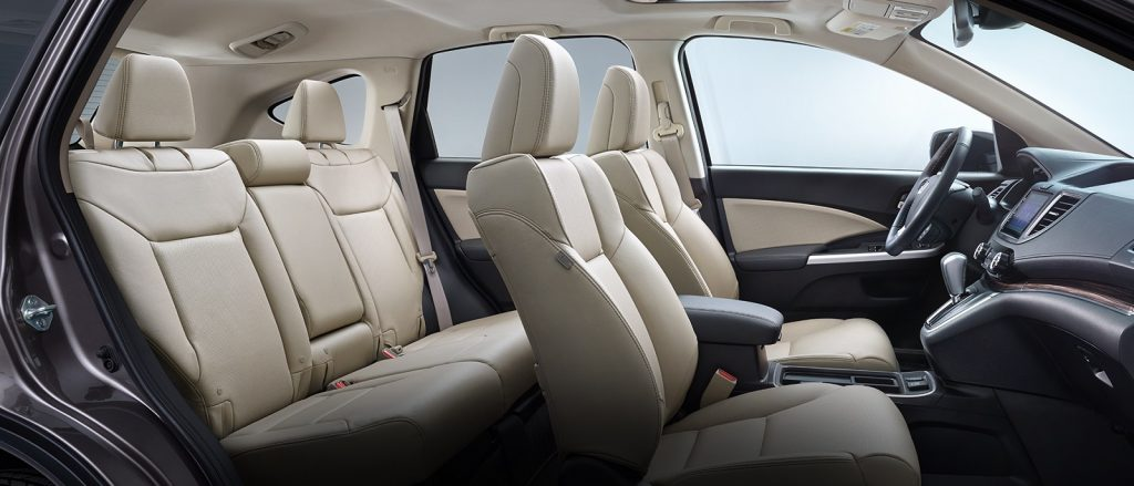 A 2017 Honda CR-V with beige seats.