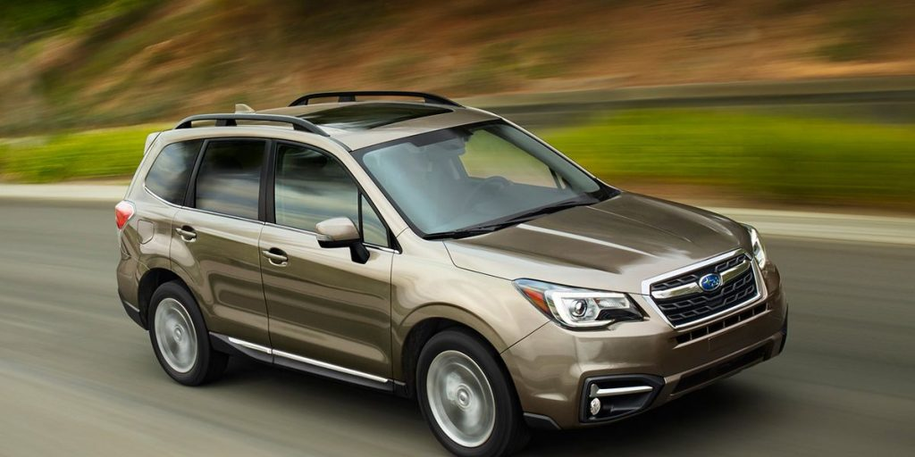 A 2017 Forester on the track
