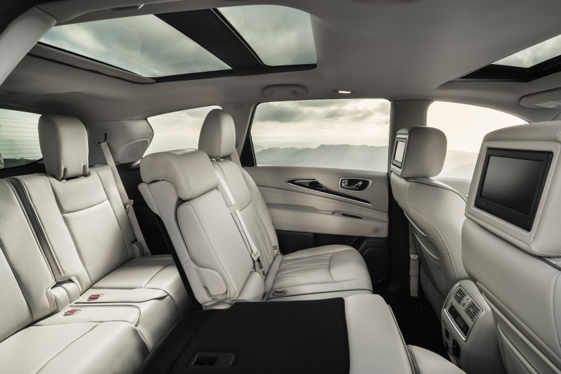 A sideview of the 2017 QX60's interior.