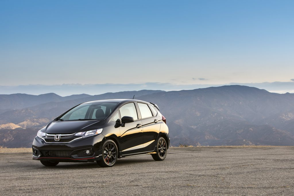 2018 Honda Fit in the mountains. Models like the fit exemplify the brand reliability.