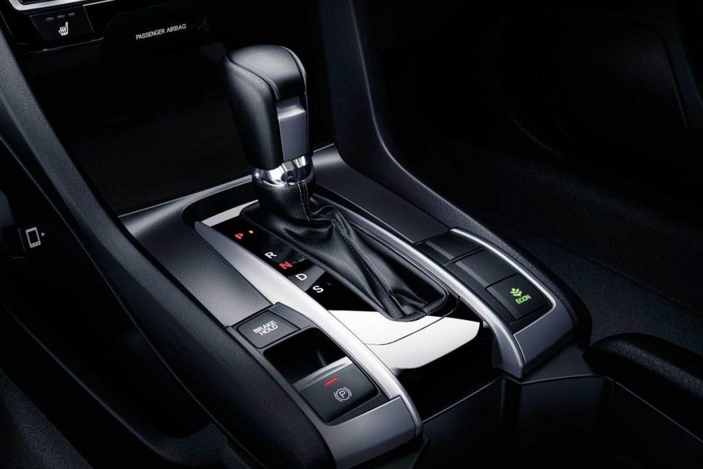 Electronic parking brake on a 2020 Honda Civic Sedan