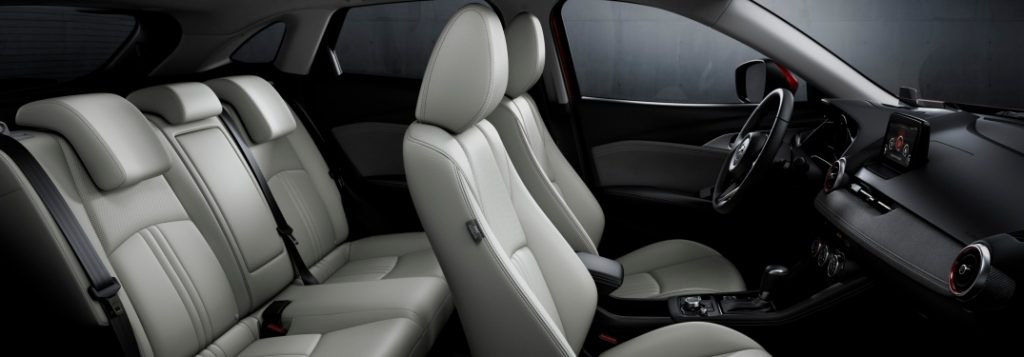 A sideview of the CX-3's car cabin.