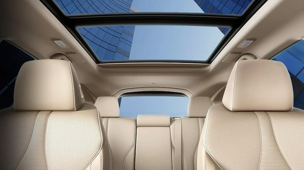A front-view of the 2020 RDX's interior with beige seats.