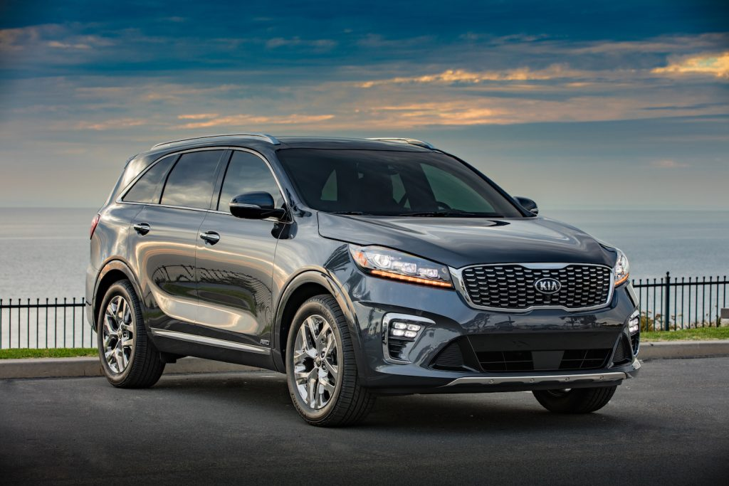 2020 Kia Sorento parked by the shore won a quality award from J.D. Power