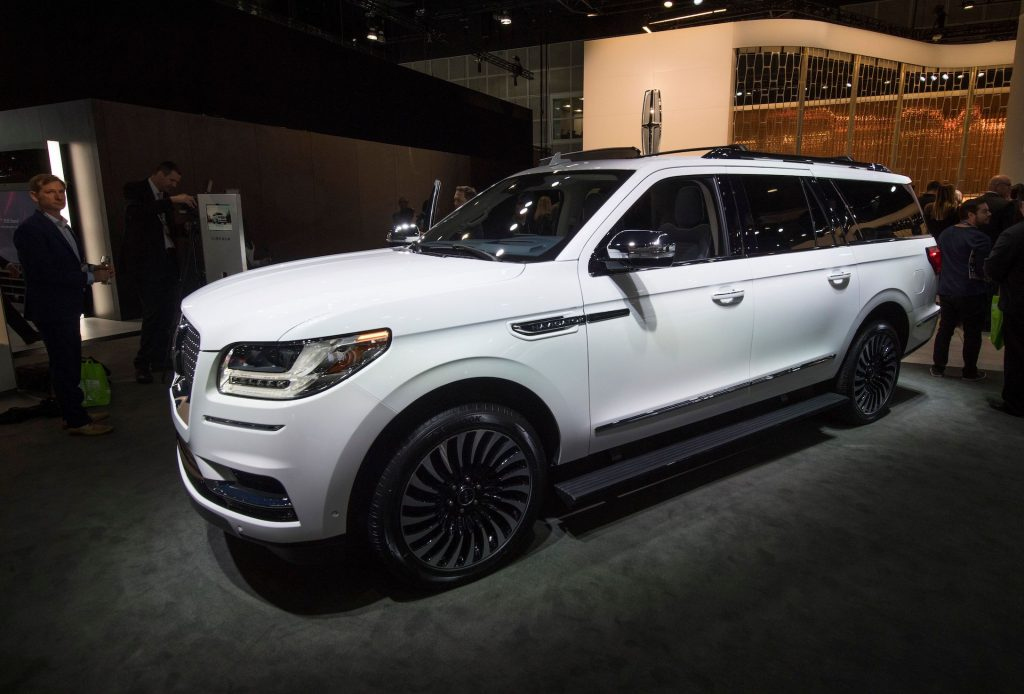 The 2020 Lincoln Navigator L SUV on display at the 2019 Los Angeles Auto Show