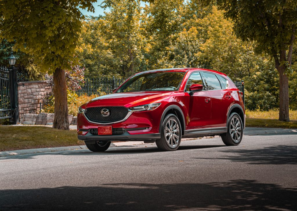 red 2020 Mazda CX-5. Consumer reports calls Mazda most reliable car maker for 2020