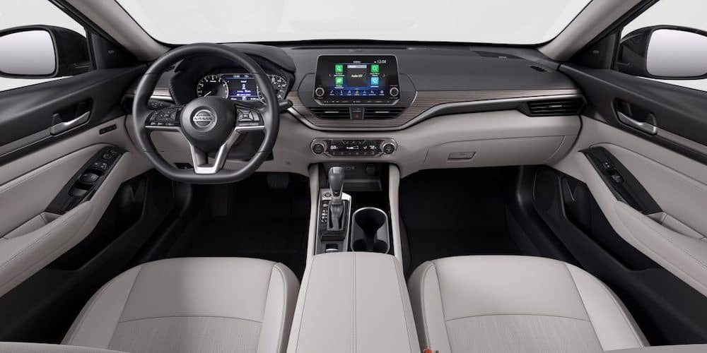 Front seats of the standard Nissan Altima.