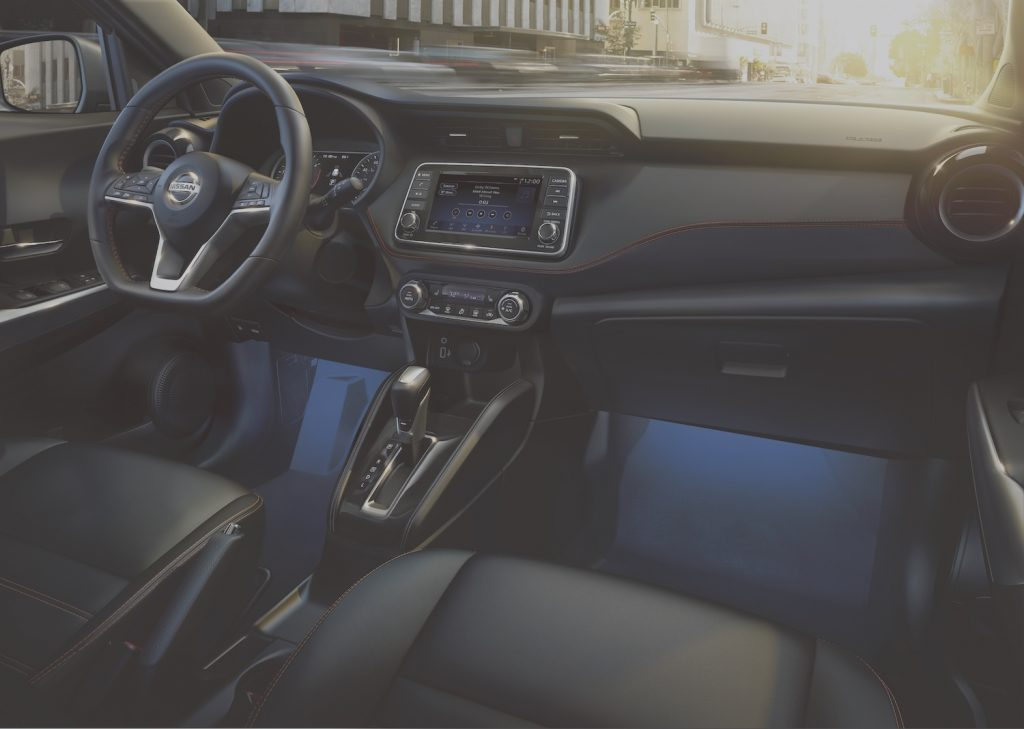 Interior of the 2020 Nissan Kicks