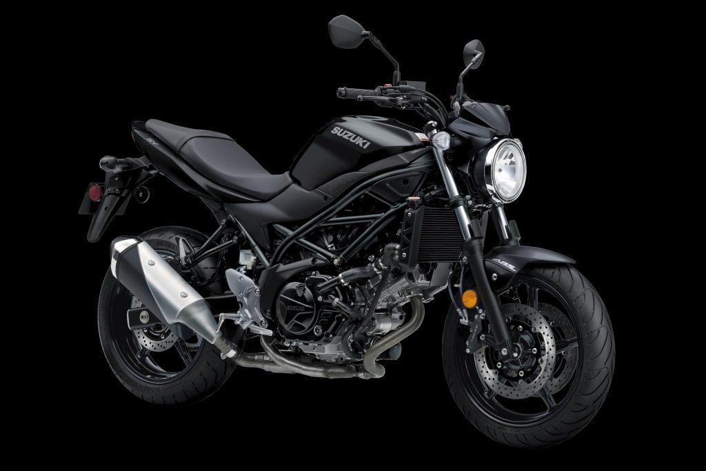 A black 2020 Suzuki SV650 ABS
