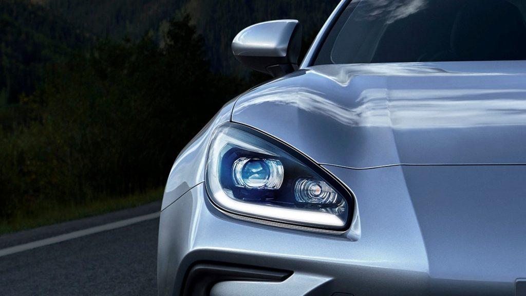 A close up image of the 2022 Subaru BRZ outdoors.