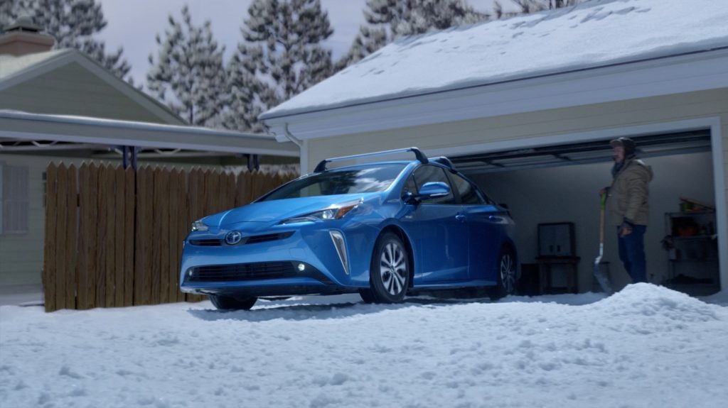 2021 Toyota Prius XLE in Snow