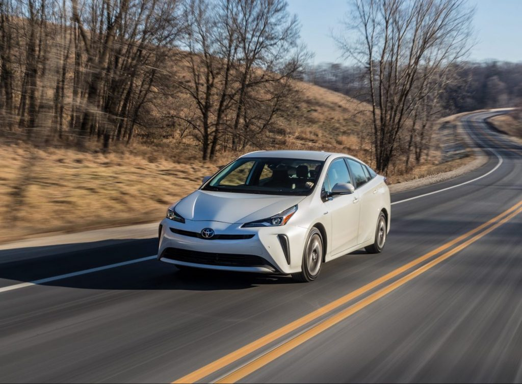 An image of a Toyota Prius outdoors.