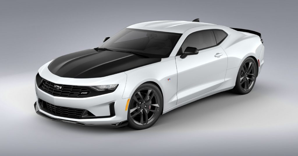 A white 2021 Chevrolet Camaro Turbo 1LT 1LE