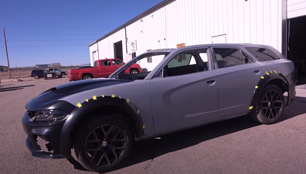 An unfinished 2021 Dodge. Charger Magnum Hellcat Widebody Wagon project