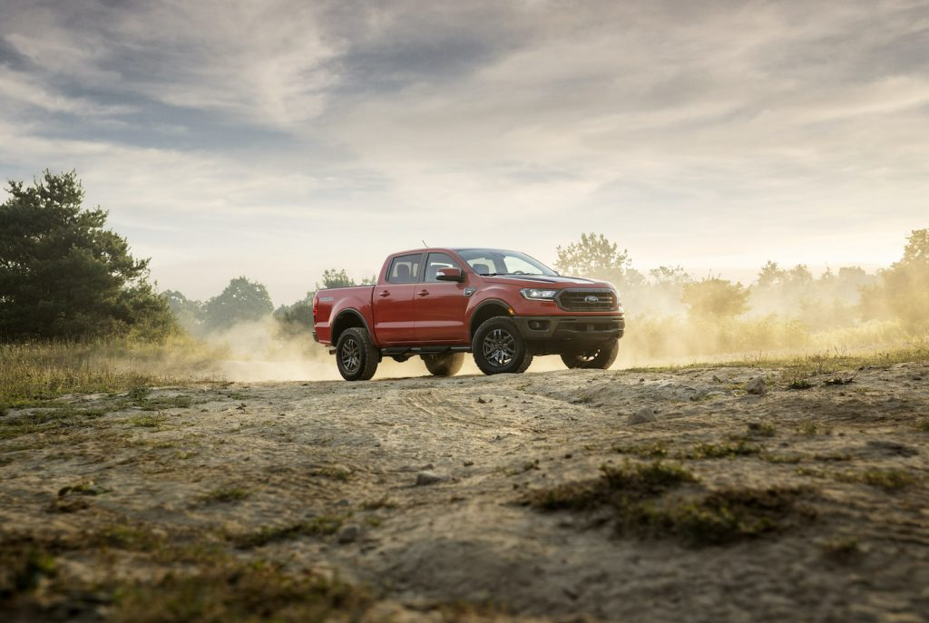 The 2021 Ford Ranger on the trails