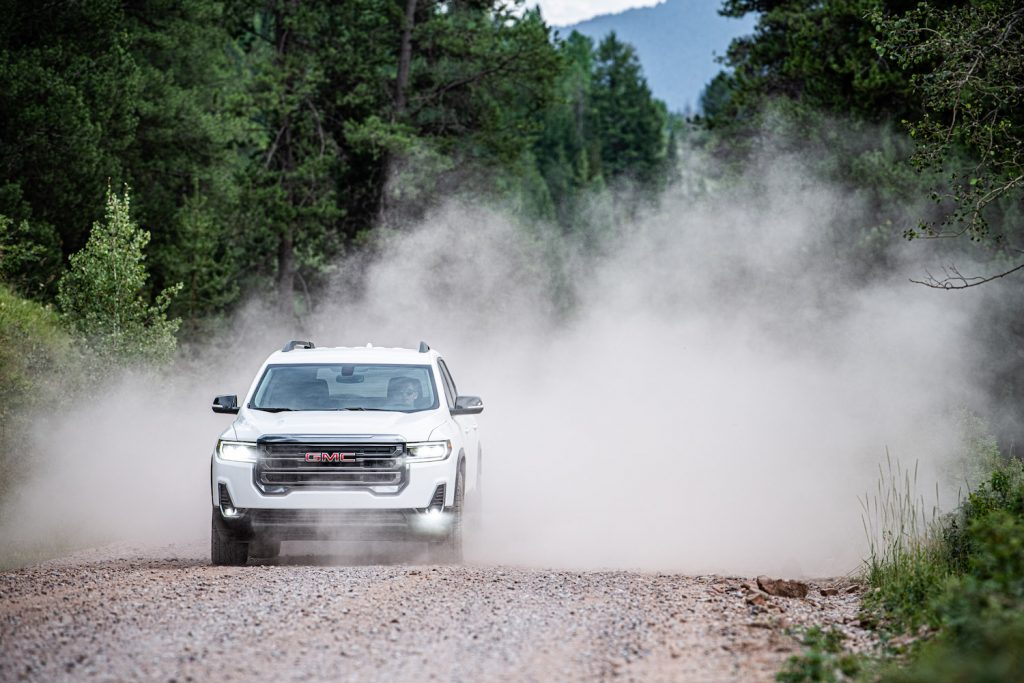 2020 GMC Acadia AT4 on the trails