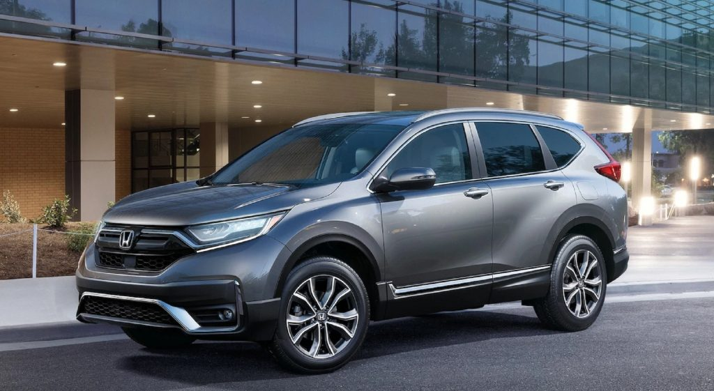 A gray 2021 Honda CR-V Touring
