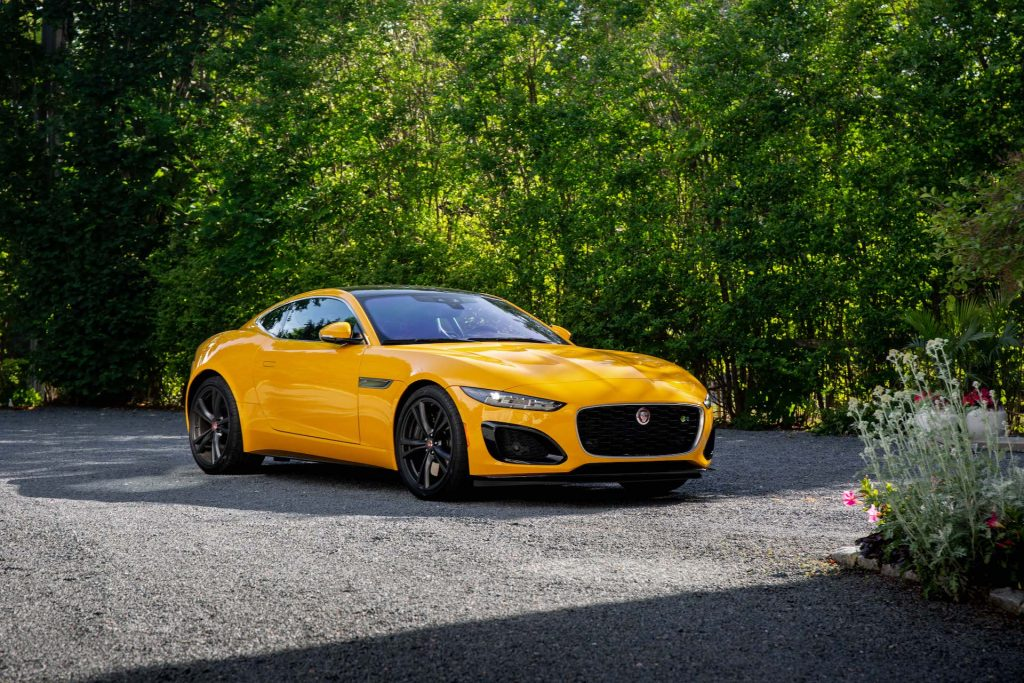 A photo of a 2021 Jaguar F-Type R outdoors.