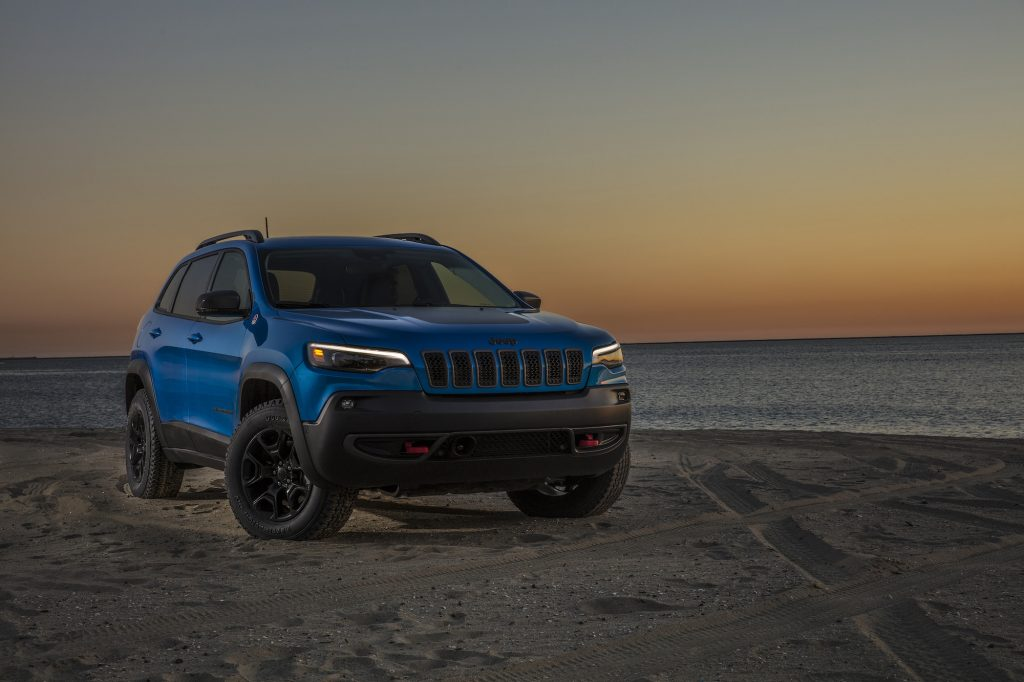 A 2021 Jeep Cherokee Trailhawk