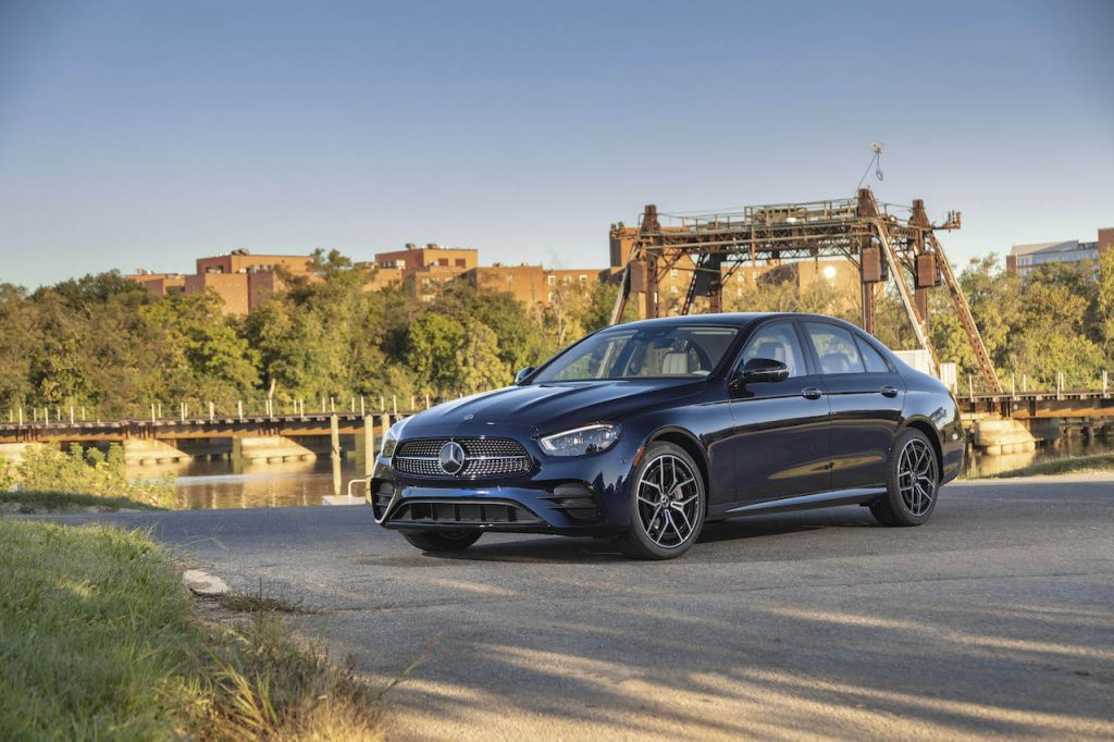 A photo of the top rated 2021 Mercedes-Benz E-Class outdoors.