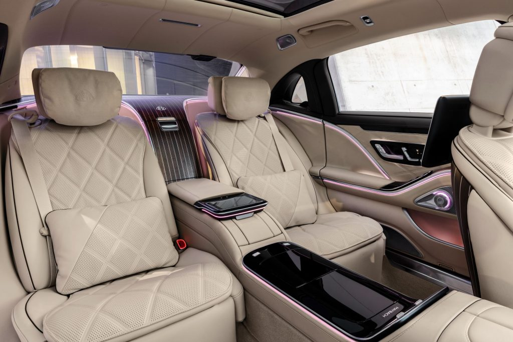 The 2021 Mercedes-Maybach S-Class Executive Package's rear seats