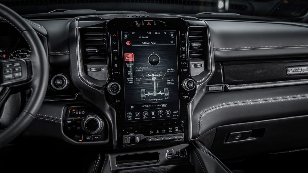 The detailed view of the 2021 Ram Power Wagon 75th Anniversary Edition's Off-Road Pages