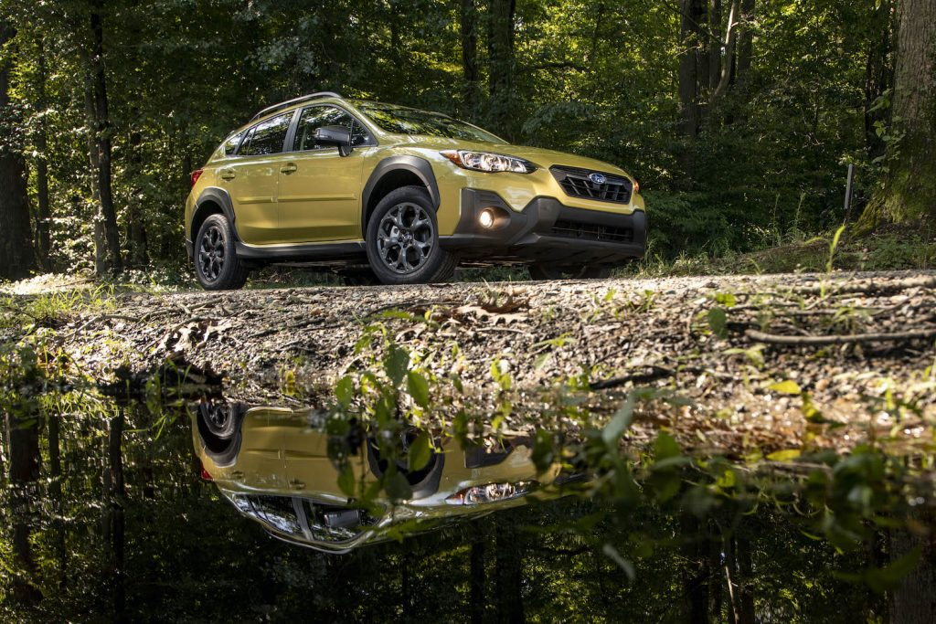 2021 Subaru Crosstrek near a creek