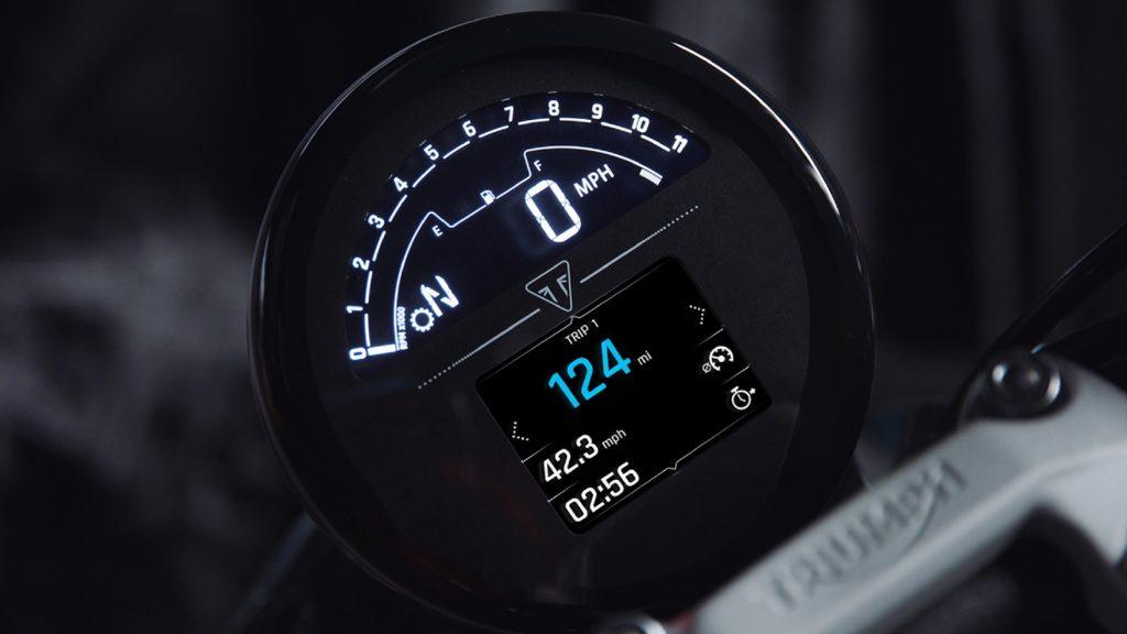The 2021 Triumph Trident 660's TFT gauge