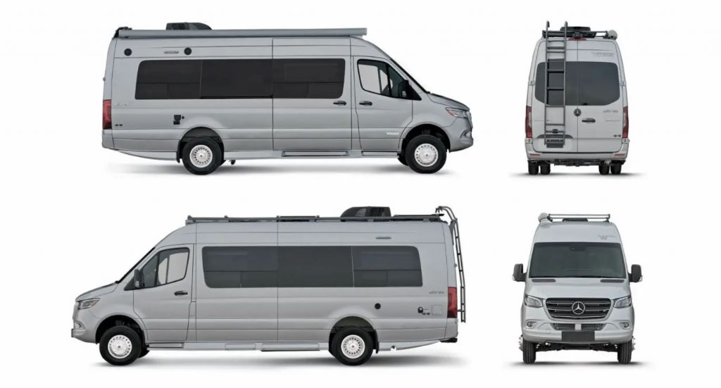 Different views of the 2021 Winnebago Era Motorhome RV camper