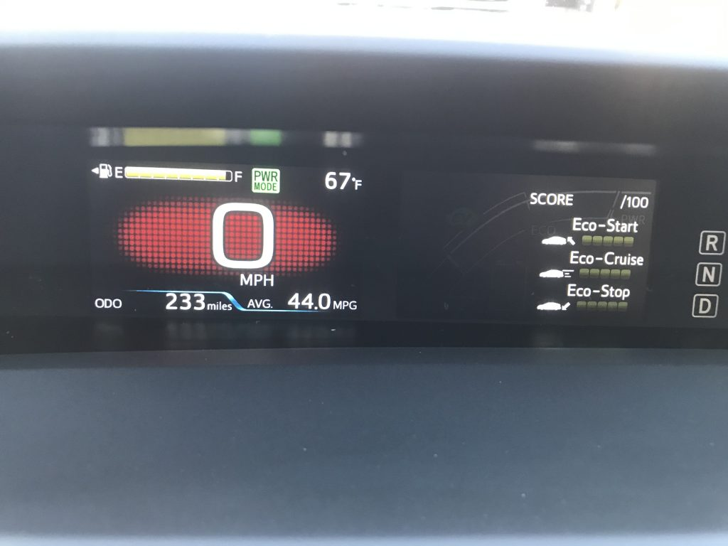 2021 Toyota Prius AWD eco score