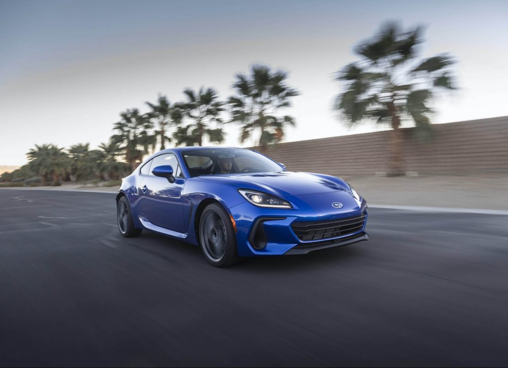 A photo of the 2022 Subaru BRZ outdoors.