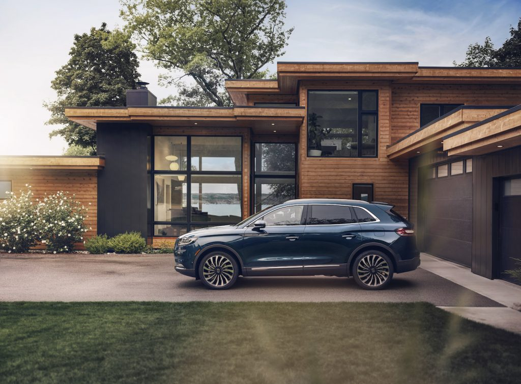 2021 Lincoln Nautilus Flight Blue parked outdoors