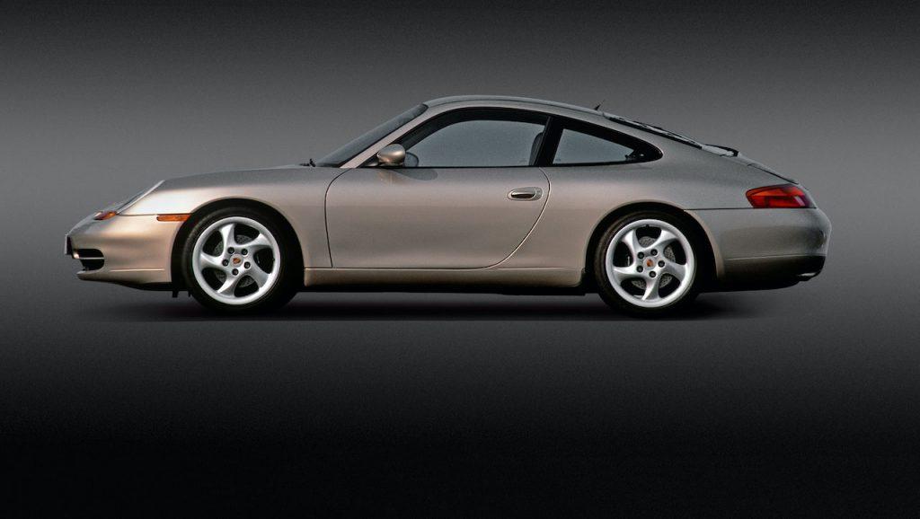 A photo of a Porsche 911 996 outdoors.