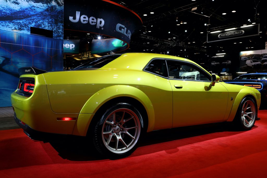 2020 Dodge Challenger SXT is on display at the 112th Annual Chicago Auto Show