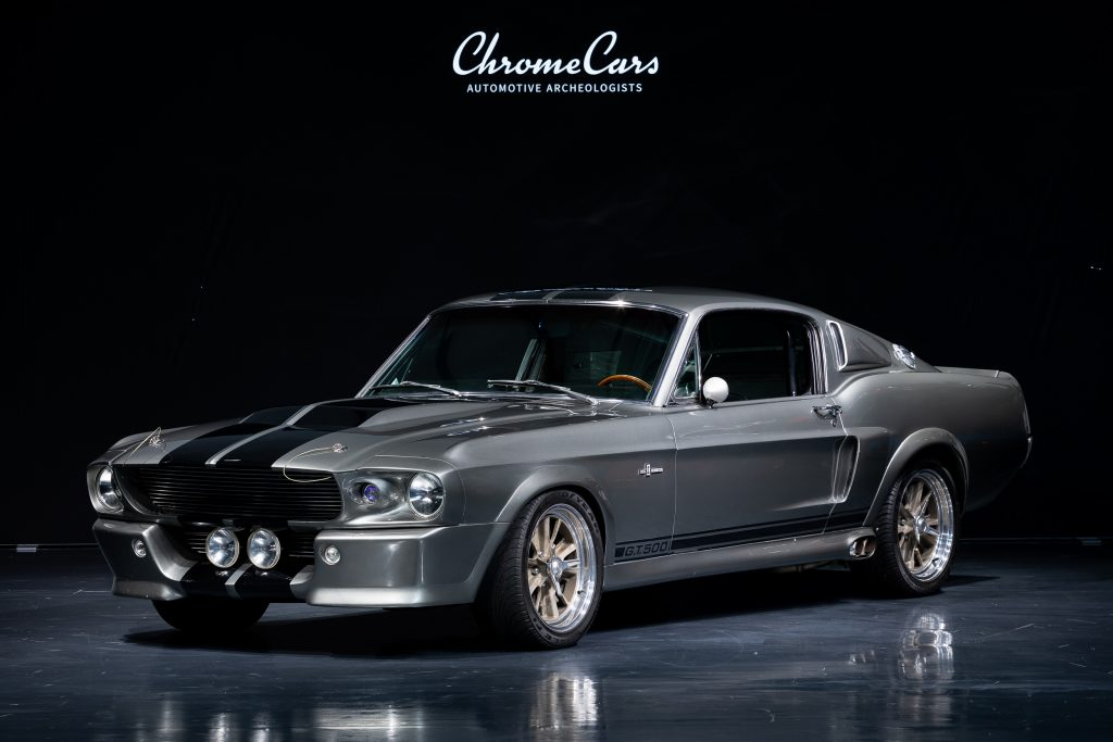 A charcoal 1967 Shelby GT500 Ford Mustang hero car from Gone in 60 Seconds