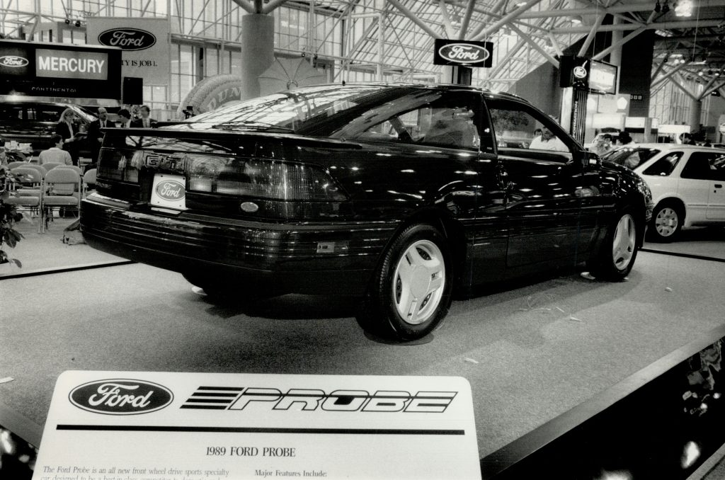 A Ford Probe being unveiled