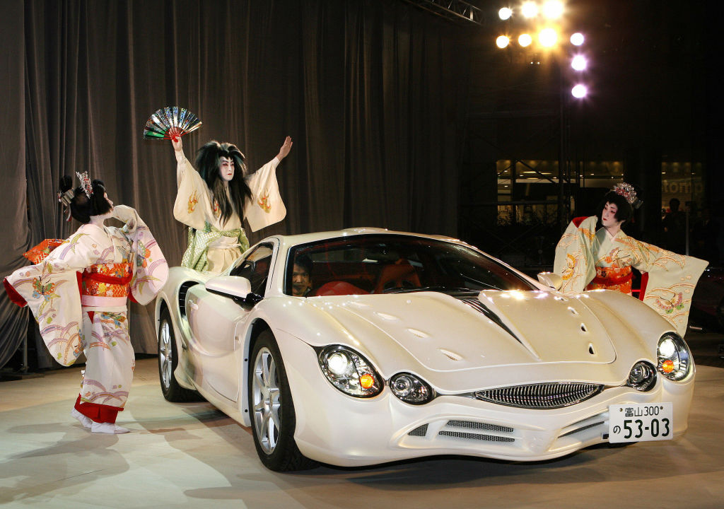A photo of the Mitsouka Orochi at an auto show.