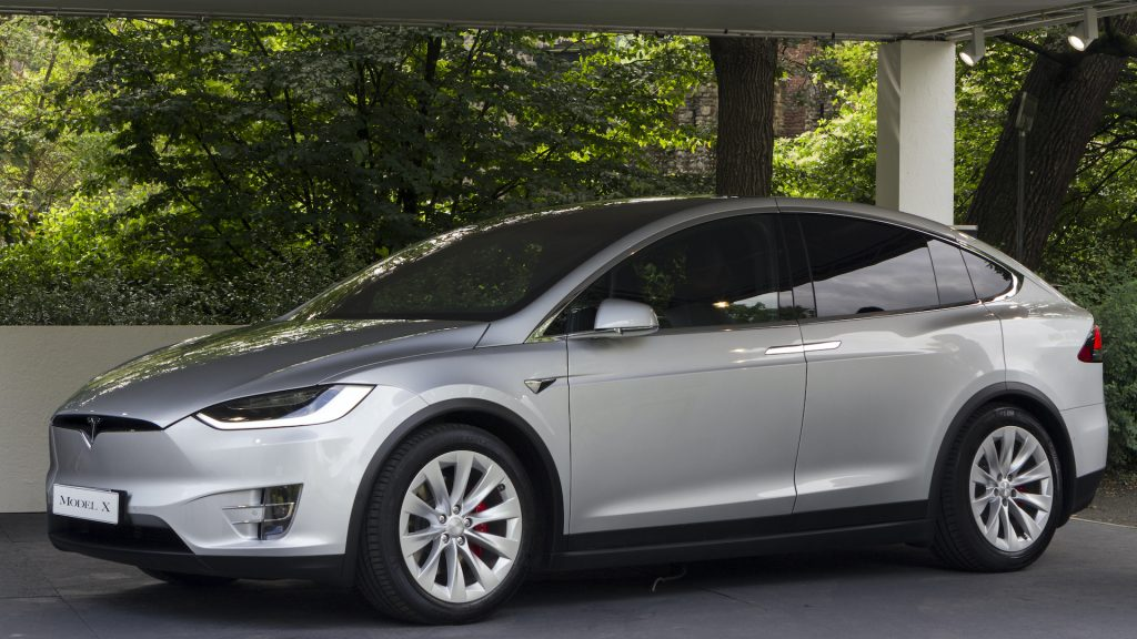 An image of a Tesla Model X parked outdoors.