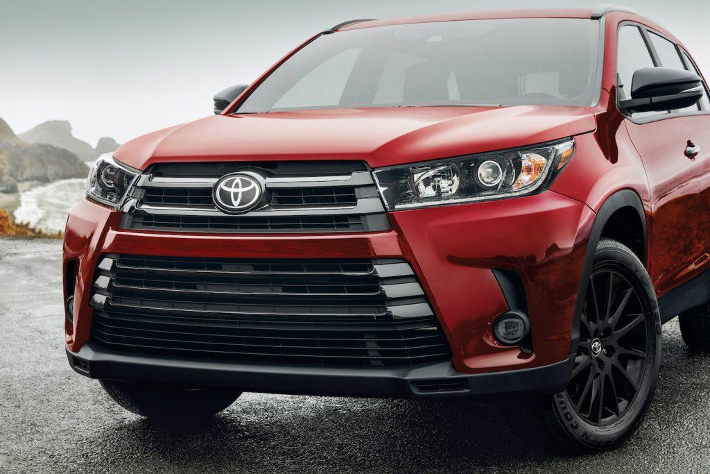 2019 Toyota Highlander close up