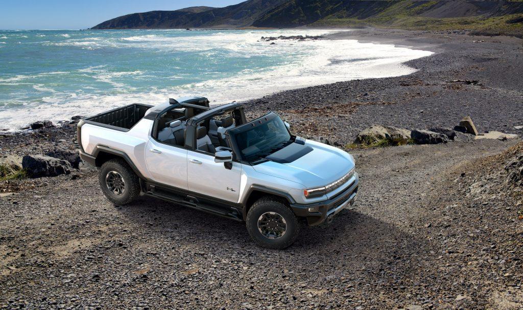 Hummer EV at the beach