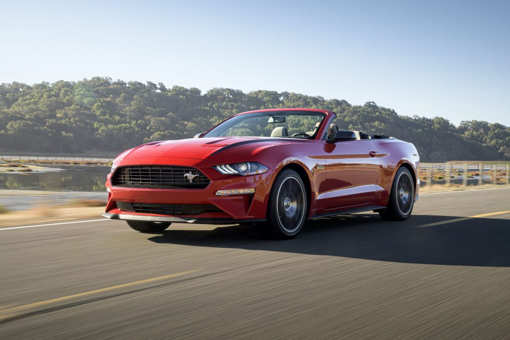 An image of a Ford Mustang Convertible outdoors.