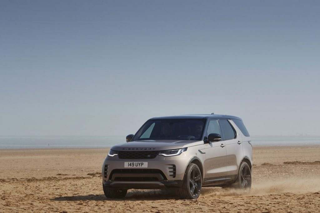 A photo of the 2021 Land Rover Defender outdoors.